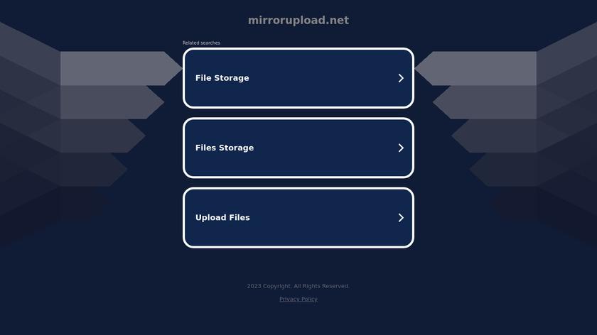 MirrorUpload.net Landing Page