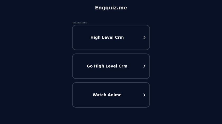 Eng Quiz Landing Page