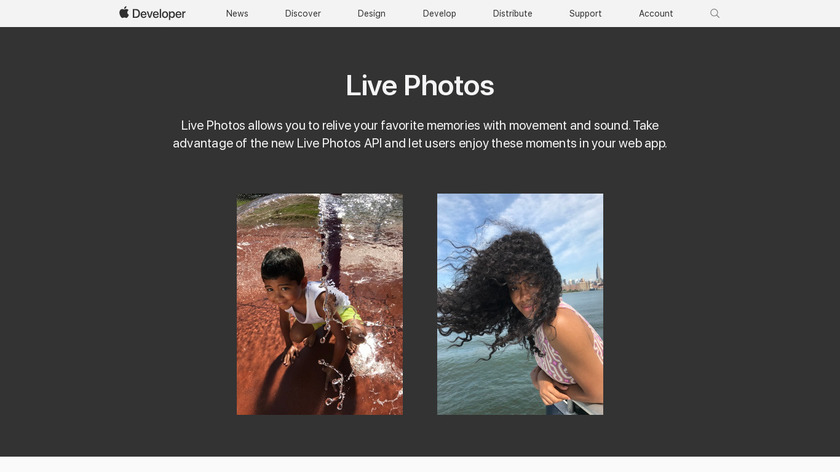 Live Photos for Developers Landing Page