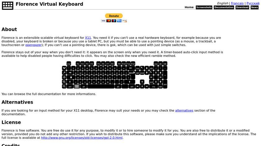 Florence Virtual Keyboard Landing Page