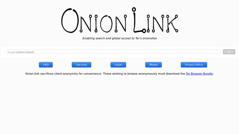Onion.link Landing Page