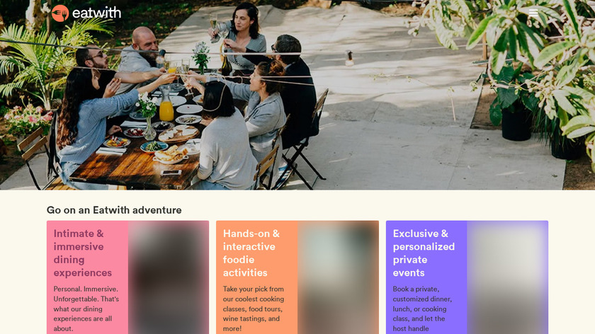 EatWith Landing Page