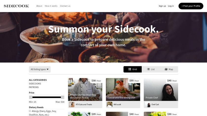 Sidecook Landing Page