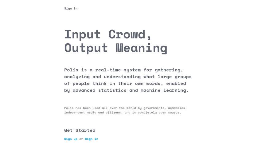 Polis Landing Page