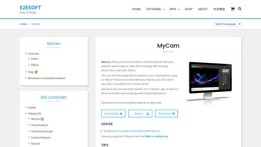 MyCam Landing Page
