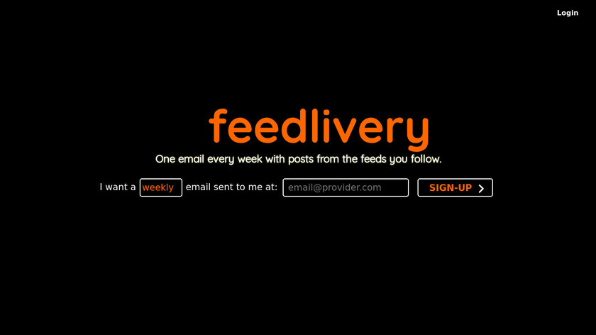 Feedlivery Landing Page