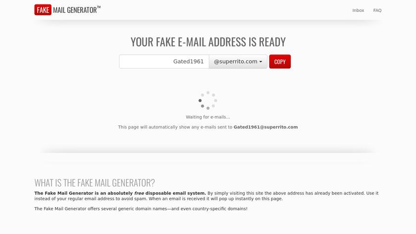 Fake Mail Generator Landing Page