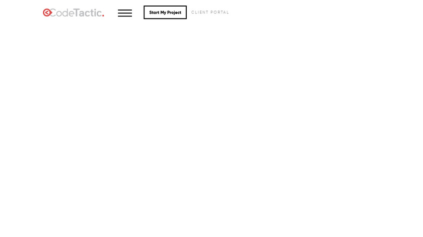 CodeTactic CMS Landing Page