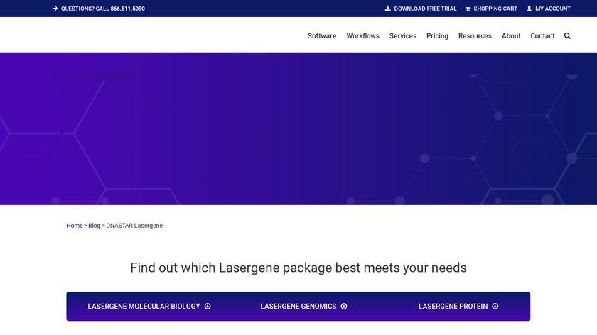 DNASTAR Lasergene Landing Page