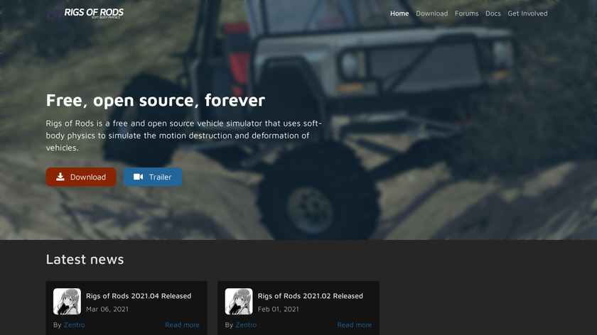 Rigs of Rods Landing Page