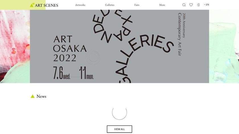 Art Scenes Landing Page