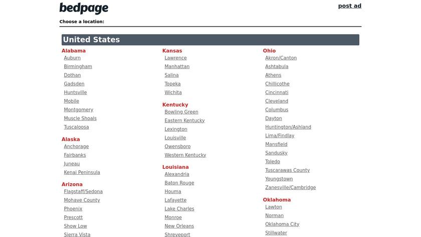 Bedpage Landing Page