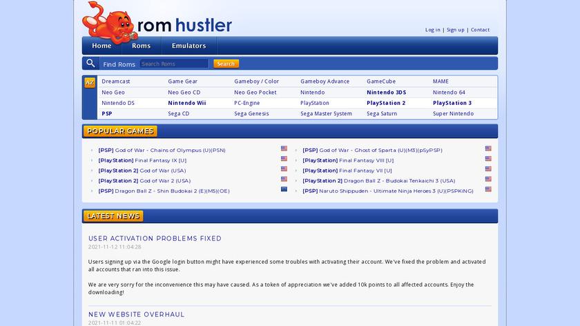 Rom Hustler Landing Page