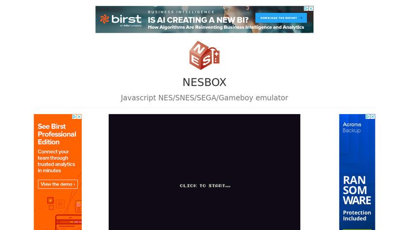 NESBox Landing Page
