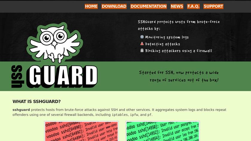 SSHGuard Landing Page