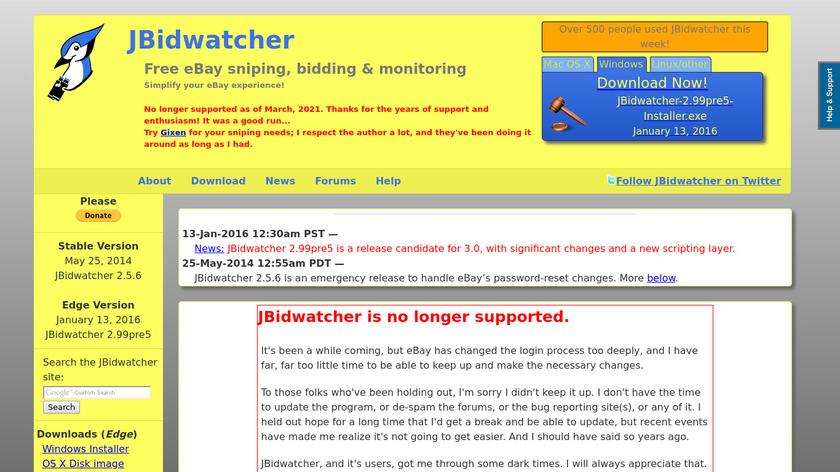 JBidwatcher Landing Page