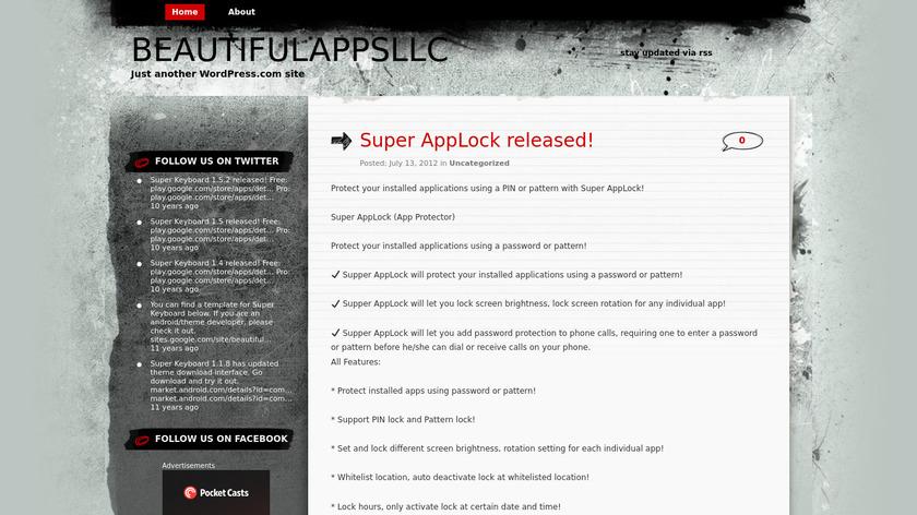 Super AppLock Landing Page
