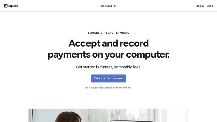 Virtual Terminal by Square Landing Page