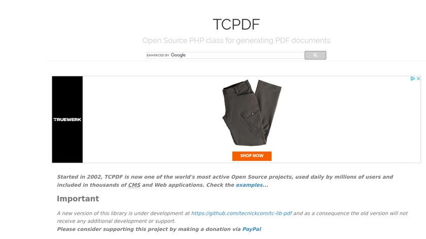 Tcpdf Landing Page