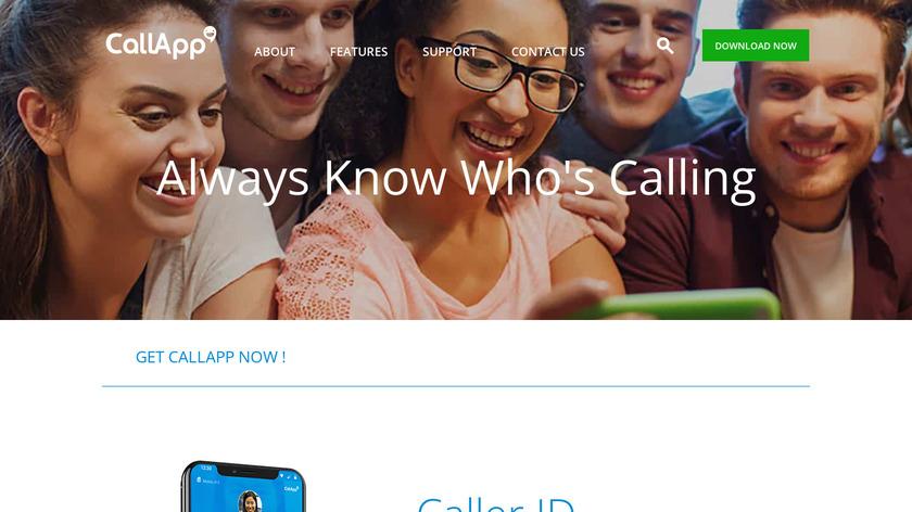 CallApp Landing Page
