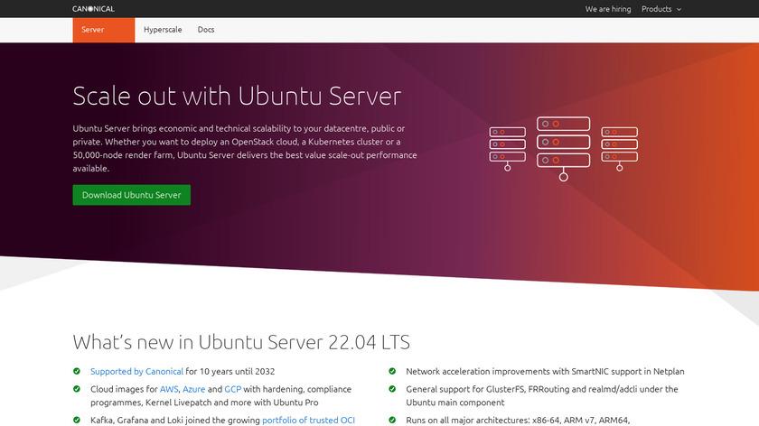 Ubuntu Server Landing Page