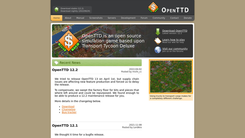 OpenTTD Landing Page