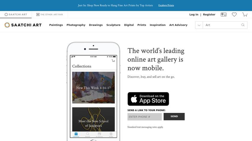 Saatchi Art Landing Page