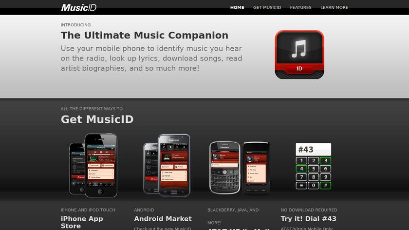 MusicID Landing Page