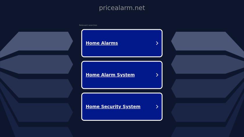PriceAlarm.net Landing Page