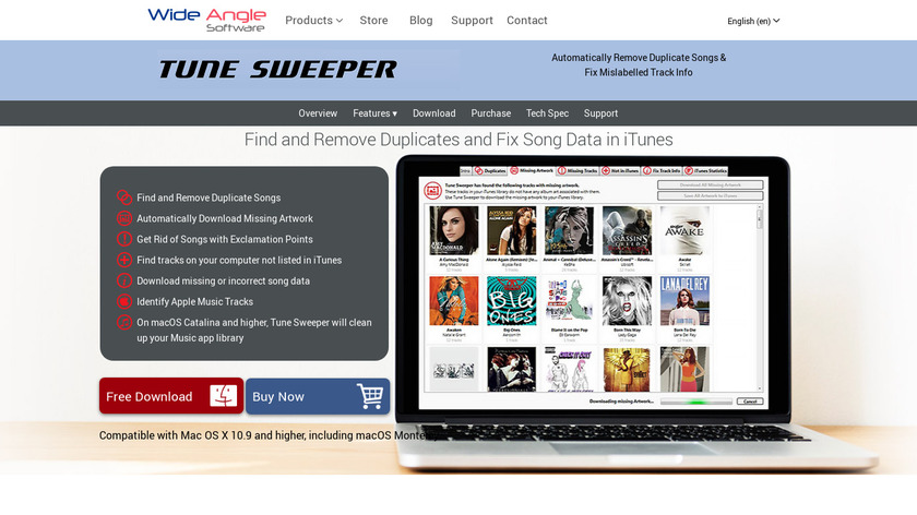 Tune Sweeper Landing Page