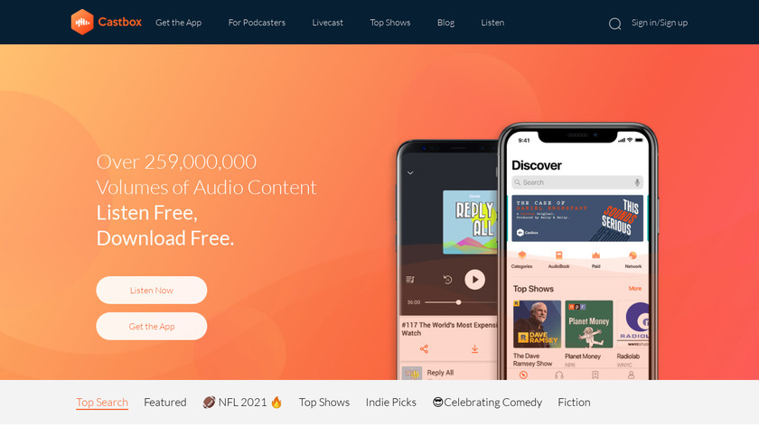 Castbox Landing Page