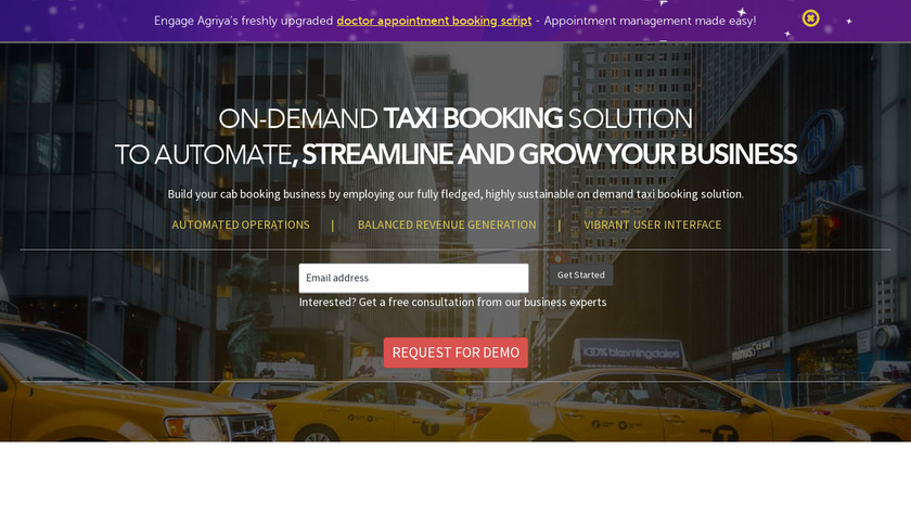 On-demand Taxi Booking Solution Landing Page
