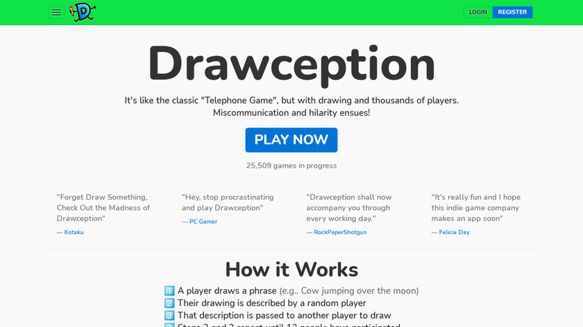 Drawception Landing Page