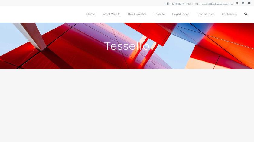 Tessello Landing Page