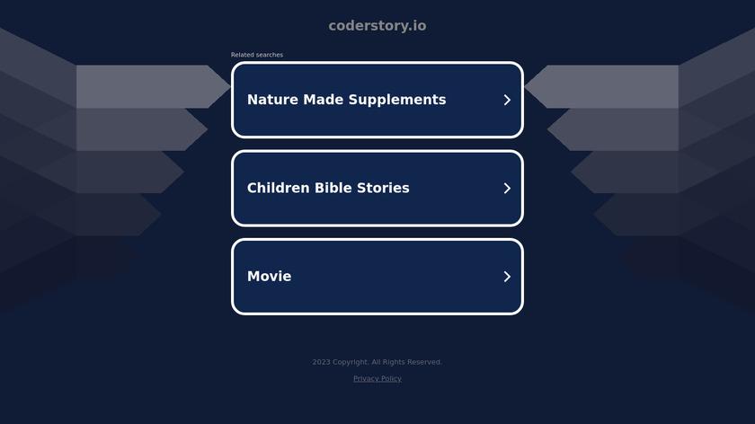 CoderStory Landing Page