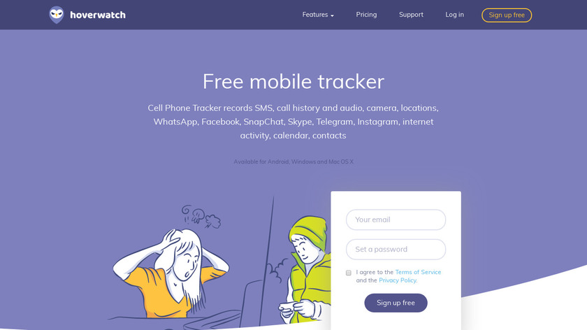 hoverwatch Landing Page