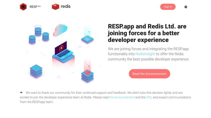 Redis Desktop Manager Landing Page