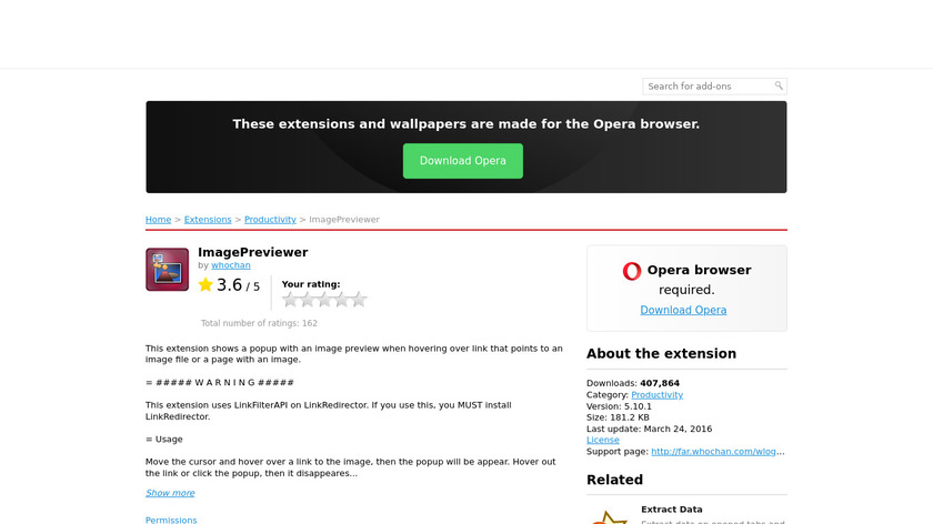 ImagePreviewer Landing Page