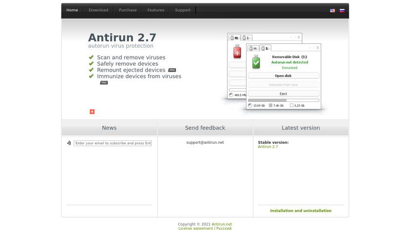 Antirun Landing Page