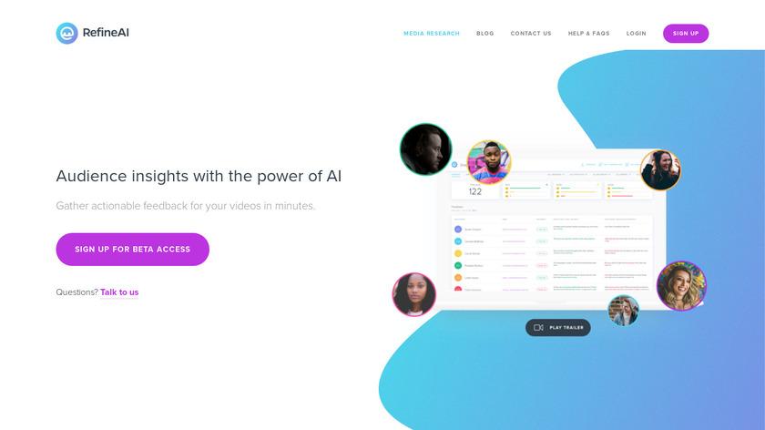 RefineAI Landing Page