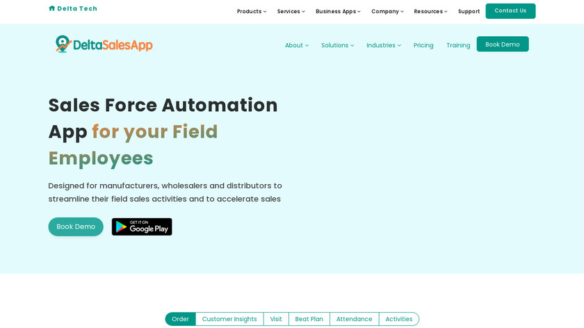 DeltaSalesApp Landing Page