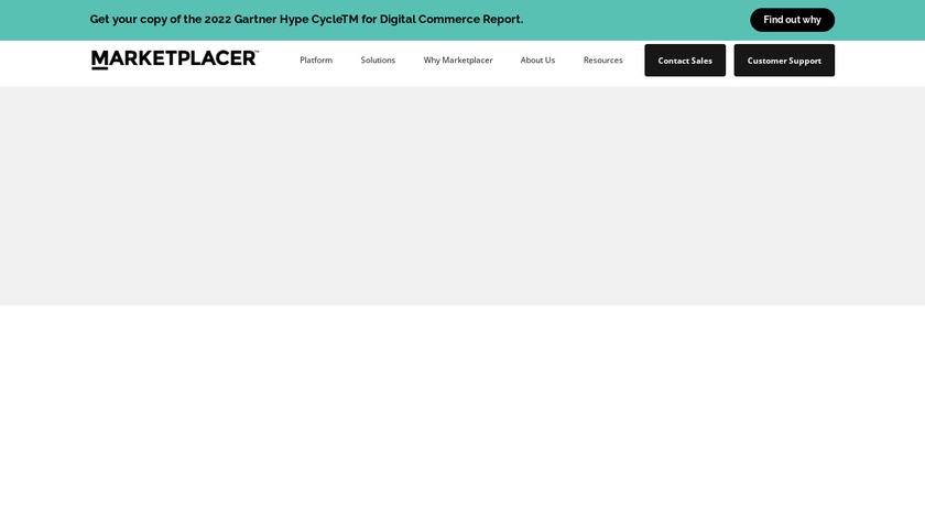 Marketplacer Landing Page