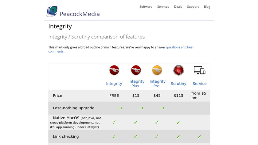 Integrity Landing Page