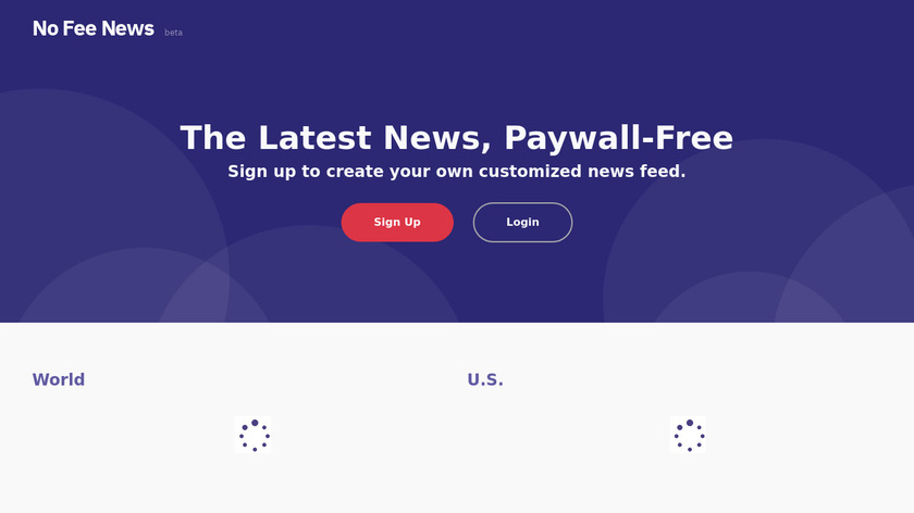 No Fee News Landing Page