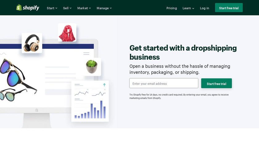 Drop Shipping with Shopify Landing Page