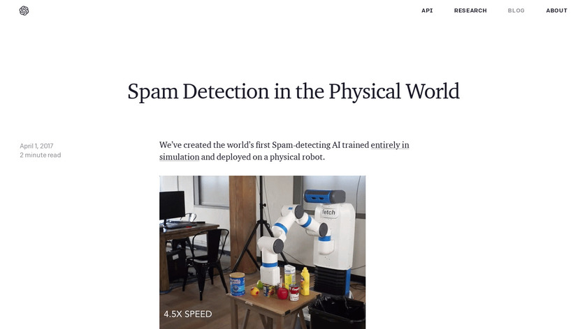 Spam-Detecting AI Landing Page