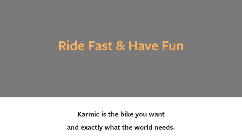 Karmic Bikes Landing Page