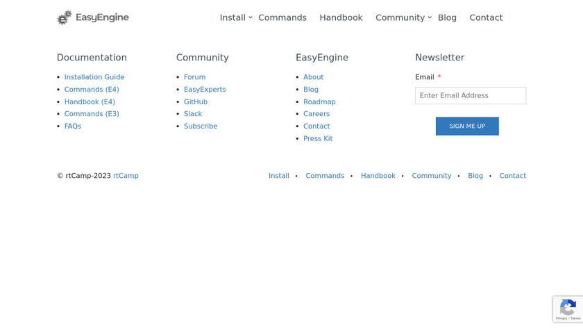 EasyEngine Landing Page