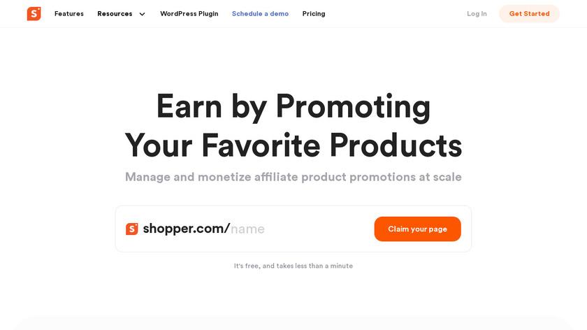 Shopper.com Landing Page