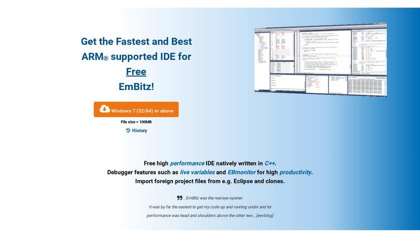 Embitz Landing Page
